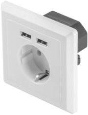 lanberg ac wall socket with 2 port usb charger