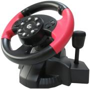 gembird str mv 02 vibrating racing wheel pc ps3