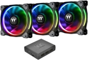 thermaltake riing plus 12 rgb radiator fan tt premium edition 120mm 3 pack