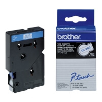 gnisio brother ptouch white blue 12 mm oem tc 203 photo