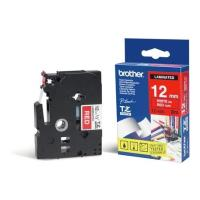 gnisio brother ptouch red white 8m x 12mm oem tze435 photo
