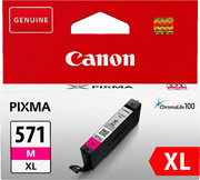 gnisio canon cli 571xl magenta me oem 0333c001 photo