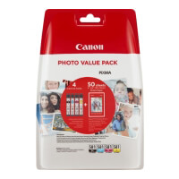 gnisio melani canoncli 581vp bk c m y photo paper me oem 2106c005 photo