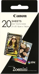 canon zink paper zp 2030 20 sheets photo