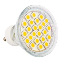 lamptiras led gu10 24 led smd 5050 230v warm white photo