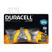 lamptiras duracell filament spot led gu10 3w 3000k 3tem photo