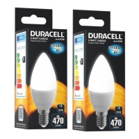 lamptiras duracell led candle e14 6w 2700k 2tem