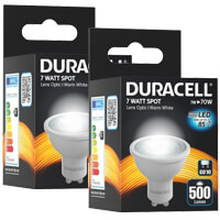lamptiras duracell led gu10 7w 3000k 2tem photo