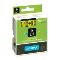 dymo etiketes d1 24mm black yellow labels 53718 s0720980 photo