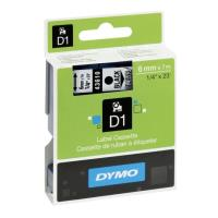 dymo etiketes d1 6mm black clear labels 43610 s0720770 photo