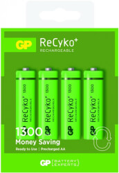 rechargeable battery gp r6 aa 130aahcn gb4 recyko gift box 1300mah nimh photo