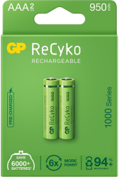 rechargeable battery gp r03 aaa 950mah nimh 100aaahce eb2 2pc in blister gp photo