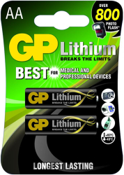 lithium battery cr6 aa 15v 2 pcs in blister gp photo