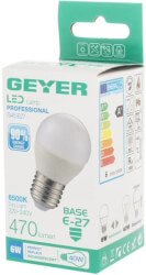 lamptiras geyer led g45 e27 470lm 6w 6500k photo
