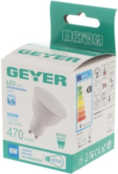 lamptiras geyer led gu10 470lm 6w 6500k photo