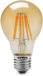 lamptiras geyer led filament vintage e27 6w d 500lm 2000k photo