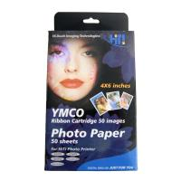 hiti photopaper pack ribbon cartridge 50 fylla a6 photo paper photo