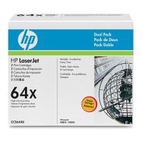 gnisio hewlett packard black toner dual pack me oem cc364xd photo