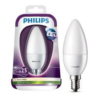 lamptiras philips led candle e14 3w warm white 250lm matt photo