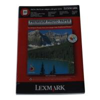 gnisio xarti lexmark a6 premium photo paper 20 fylla me oem 18c0671 photo