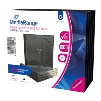 mediarangecd jewelcase disc 104mm black tray 5pcs photo
