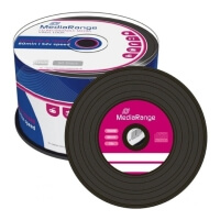 mediarangevinylcd r 700mb 52x mr225 black dye 50pcs photo