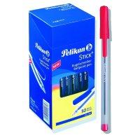 stylo pelikan stick kokkino 50 tem photo