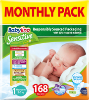 panes babylino sensitive monthly pack no1 2 5kg 168tem photo