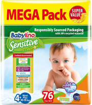 panes babylino sensitive megapack maxi plus no4 76tem photo