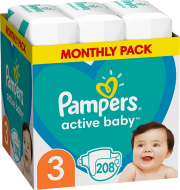 panes pampers active baby no3 6 10kg 208 tmx monthly pack photo