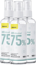 set 3 tem baseus lets go portable antibacterial 75 alcohol spray 120ml 3 pcs multipack photo