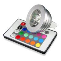 lamptiras techlight led rgb mr16 3w remote control photo