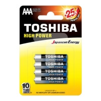 mpataries alkaline toshiba 3a high power 4pcs photo