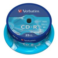verbatim cd r 80min 700 mb extra protection 52x cakebox 25pcs photo
