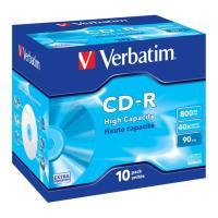 verbatim cd r 800mb 90 min 40x jewel case 10pcs photo