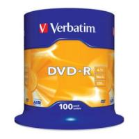 verbatim dvd r 16x 47gb cakebox 100pcs photo
