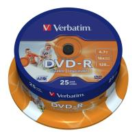 verbatim dvd r 16x 47gb cakebox ink jet photo printable 25pcs photo