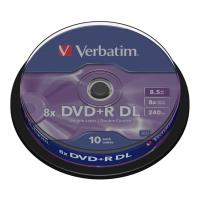verbatim dvd r dual layer 8x 85gb matt silver cakebox 10pcs photo