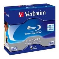 verbatim blu ray 8cm bd r 2x 75gb jewel case 5pcs photo