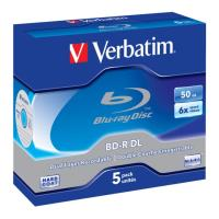 verbatim blu ray bd r 6x 50gb jewel case 5pcs photo