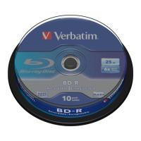 verbatim blu ray bd r 6x 25gb cb 10pcs photo