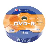 verbatim dvd r matt silver 16x wrap 15pcs 47gb photo