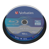 verbatim 43746 50gb x6 bd r cb 10pcs photo