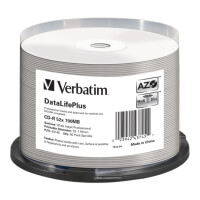 verbatim 43745 cd r 700mb azo dl printable cb 50pcs photo
