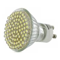 lamptiras whitenergy gu10 80 led 3w white warm 3600k 230v photo