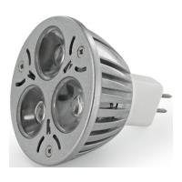 lamptiras whitenergy 3xled 3w gu53 white cold photo