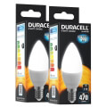 lamptiras duracell led candle e14 6w 4000k 2tem extra photo 1
