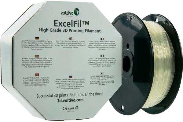 Ef-abs-300-trans Voltivo Excelfil High Grade 3d Printing Filament Abs 3mm Clear Computers/tablets & Networking 3d Printers & Supplies
