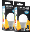 lamptiras duracell led e27 11w 2700k 2tem photo