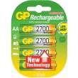rechargeable battery gp 6 aa 2700mah nimh 4pcs photo